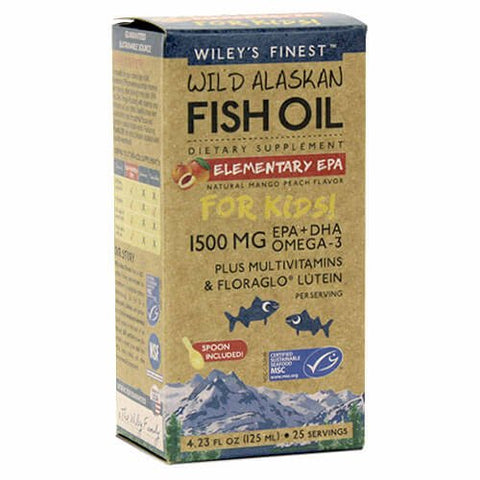 Wiley's Finest Wild Alaskan Fish Oil Elementary EPA (4.23 fl oz)
