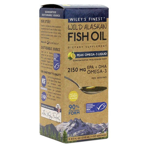 Wiley's Finest Wild Alaskan Fish Oil Peak Omega-3 Liquid (8.45 fl oz)