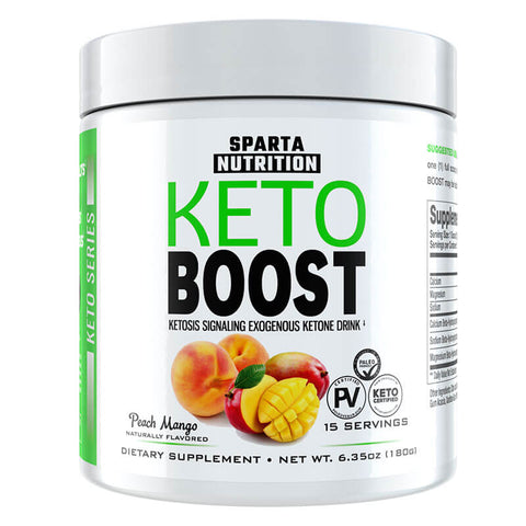Sparta Nutrition Keto Boost - Peach Mango (6.35 oz)