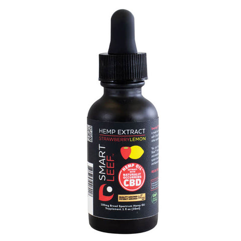 SmartLeef Hemp Extract 100mg - Strawberry Lemon (1 fl oz)