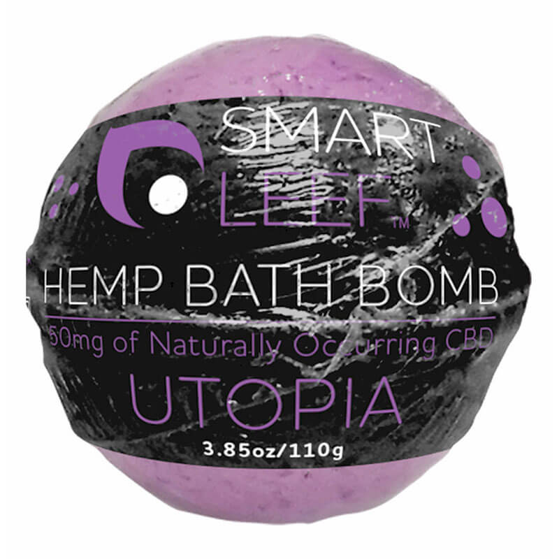 SmartLeef Hemp Bath Bomb (3.85 oz)