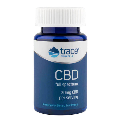 Trace Minerals Research CBD Oil 20mg (60 softgels)