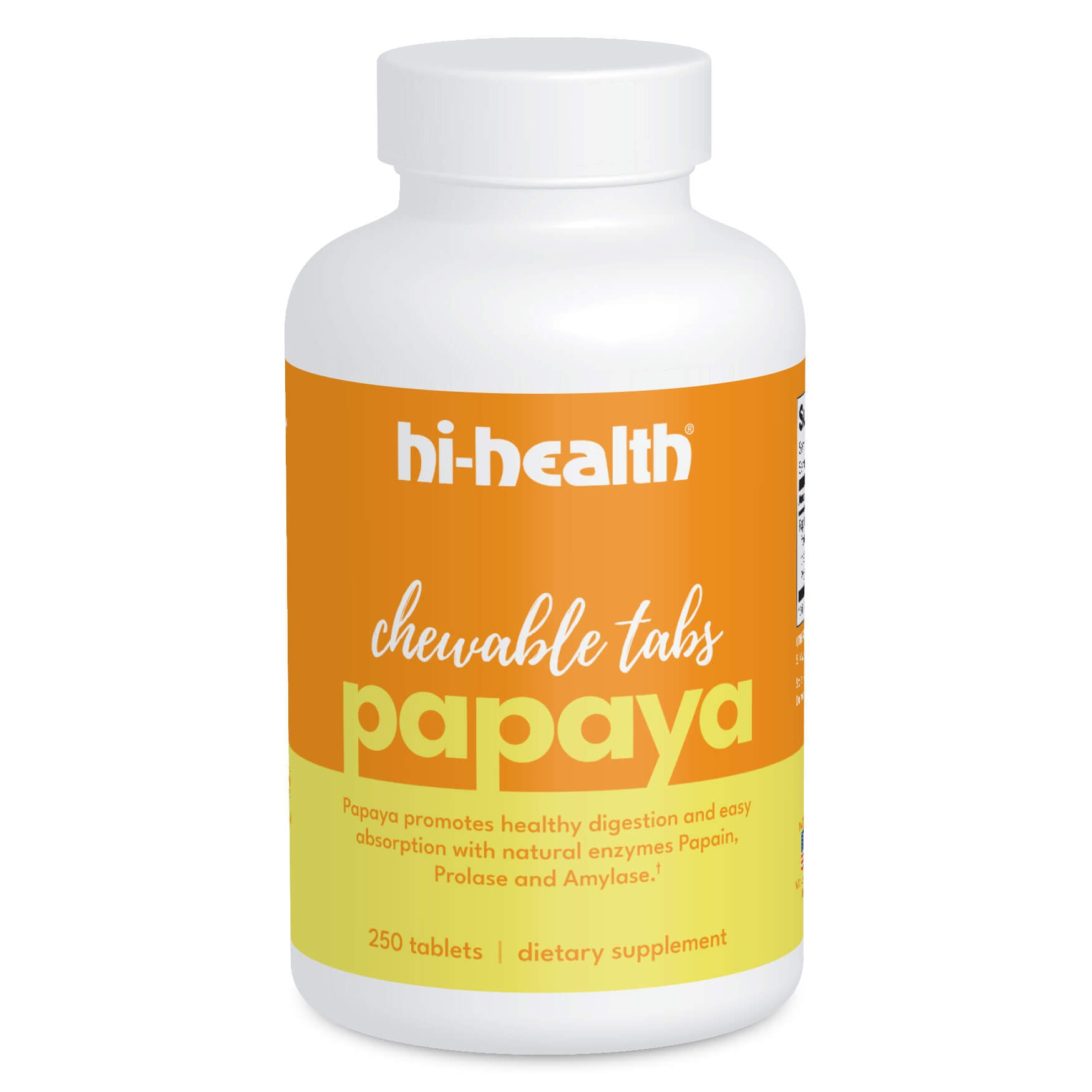 Ultra Plan Papaya Chewable Tabs