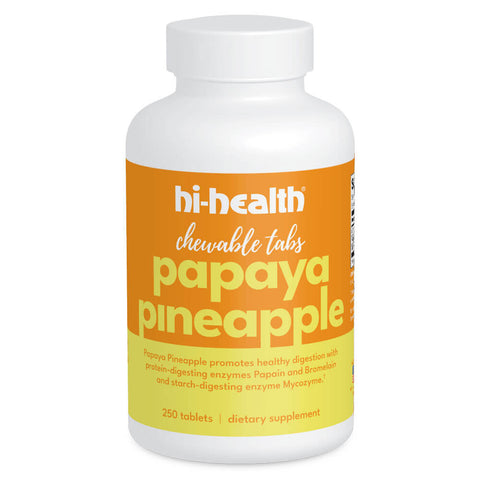 Hi-Health Papaya Pineapple Chewable Tabs (250 tablets)