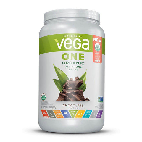 Vega One Organic All-in-One Shake - Chocolate (25 oz)