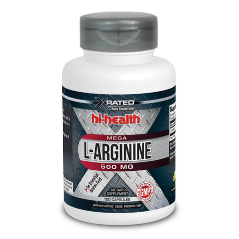 Xrated Body Engineering Mega L-Arginine 500mg (100 caps)