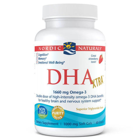 Nordic Naturals DHA Xtra - Strawberry (60 softgels)