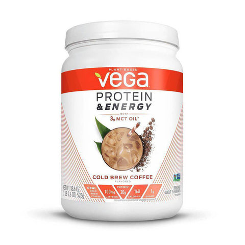 Vega Protein & Energy - Cold Brew Coffee (18.6 oz)