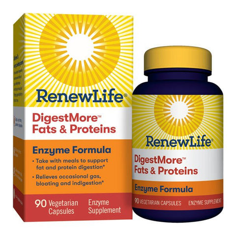Renew Life DigestMore Fats & Proteins Enzyme Formula (90 capsules)