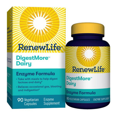 Renew Life DigestMore Dairy Enzyme Formula (90 capsules)