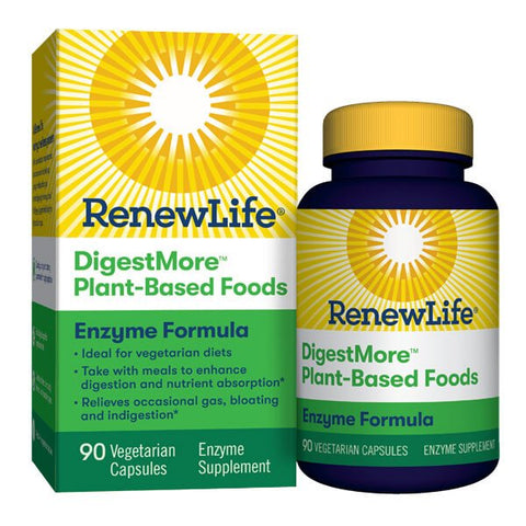 Renew Life DigestMore Plant-Based Foods Enzyme Formula (90 capsules)