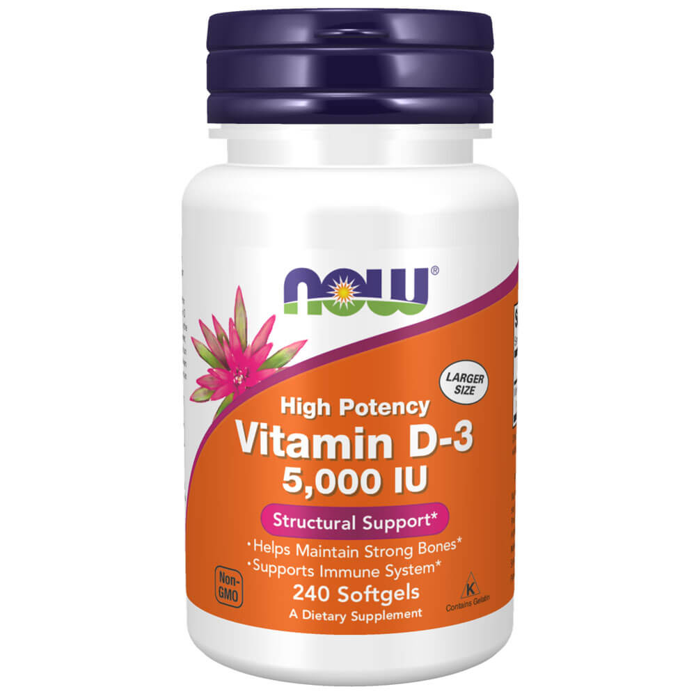 NOW Vitamin D-3 5000 IU Softgels