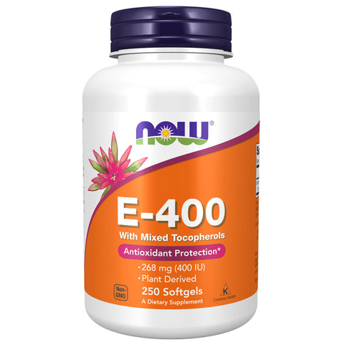 NOW Natural E-400 (250 softgels)