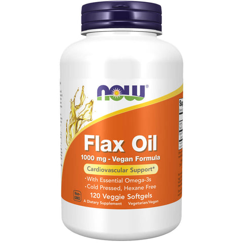 NOW Flax Oil 1000mg (120 softgels)