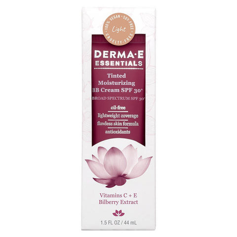 Derma E Tinted Moisturizing BB Cream SPF 30+, Light (1.5 oz)
