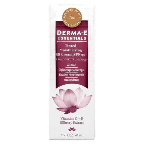 Derma E Tinted Moisturizing BB Cream SPF 30+, Tan (1.5 oz)
