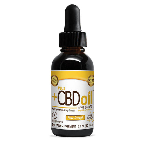 PlusCBD Oil Hemp Drops 750mg Extra Strength - Unflavored (2 fl oz)