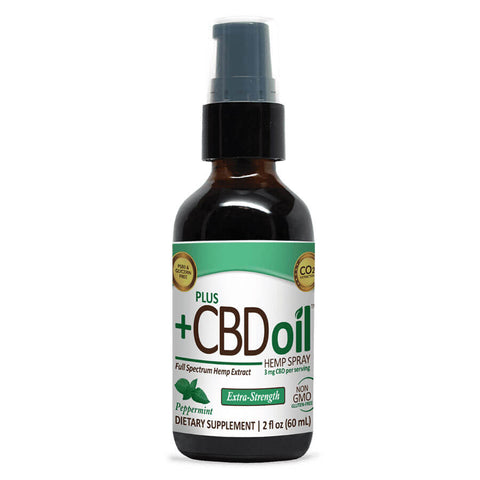 PlusCBD Oil Hemp Spray Extra Strength - Peppermint (2 fl oz)