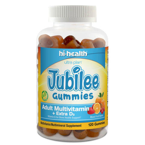 Ultra Plan Jubilee Gummies - Adult Multivitamin + Extra D3 (120 gummies)