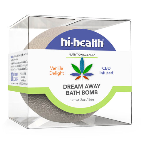 Nutrition Science Dream Away Bath Bomb, CBD Infused - Vanilla Delight (2 oz)