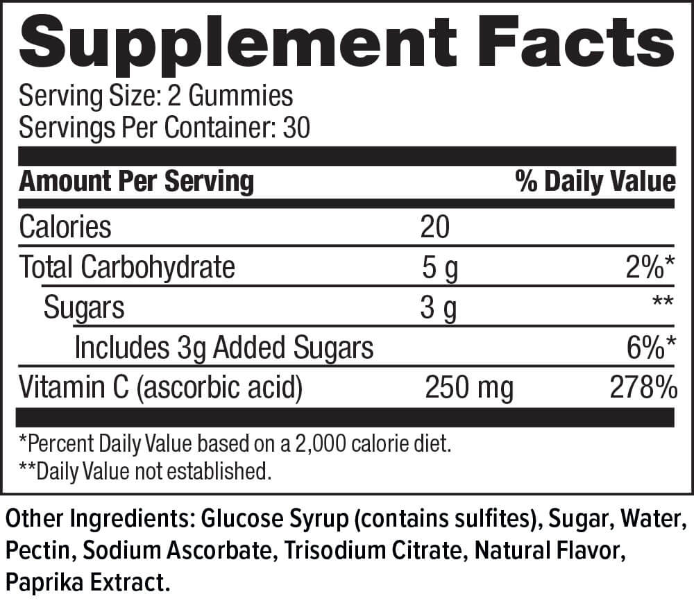 Hi-Health Vitamin C 250mg Gummies (60 gummies)