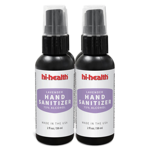 Hi-Health Lavender Hand Sanitizer (4 x 2 fl oz) - Four Pack