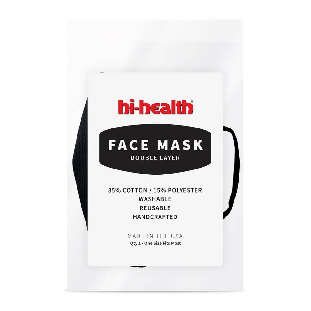 Hi-Health Face Mask - Double Layer - 3 pack