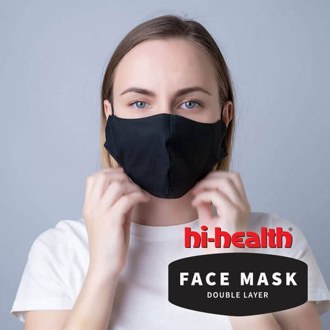 Hi-Health Face Mask - Double Layer Fabric (3 pack)