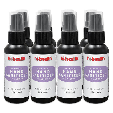 Hi-Health Lavender Hand Sanitizer - (8 x 2 fl oz) - Eight Pack