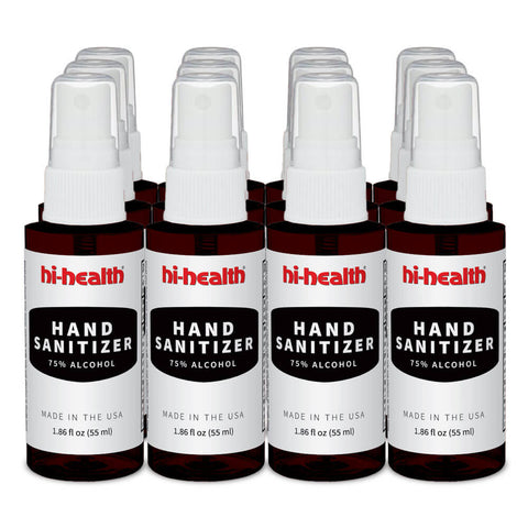 Hi-Health Unscented Hand Sanitizer (12 x 1.86 fl oz) - Twelve Pack