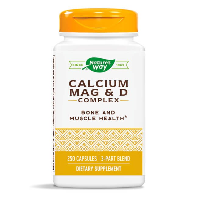 Nature's Way Calcium Magnesium & Vitamin D Complex (250 capsules)