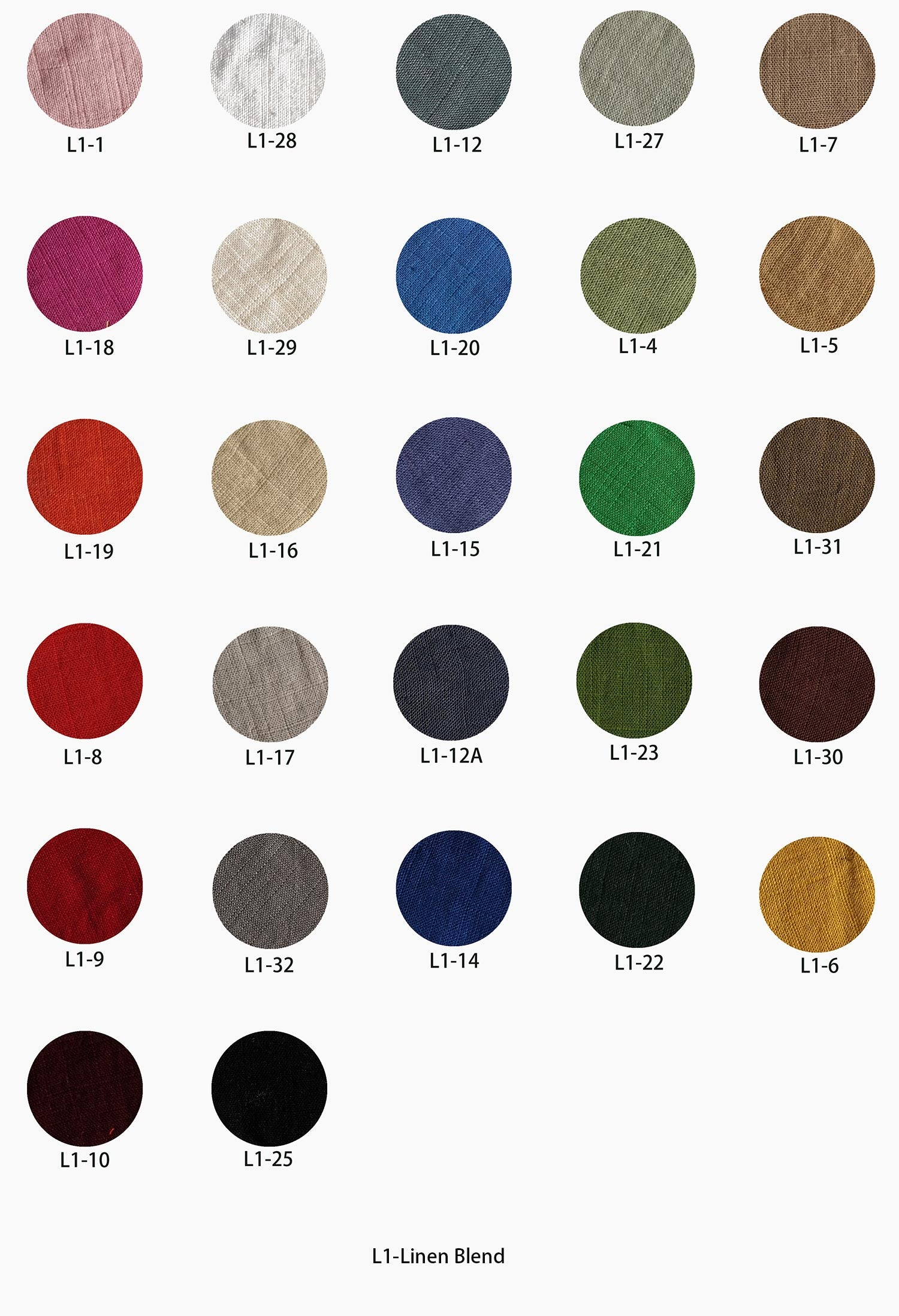 Ylistyle's Linen blend farbic swatch