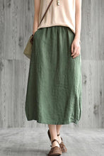 Load image into Gallery viewer, Commuter vintage natural waist a-line skirt CYM033-190065
