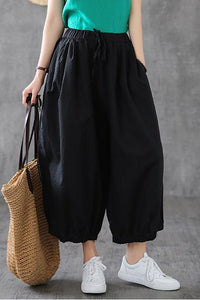 casual linen capri pants 190161