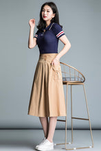 Load image into Gallery viewer, Comfortable simple high waist a-line skirt CYM032-190064