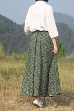 Load image into Gallery viewer, Print vintage high-waisted a-line skirt CYM035-190067