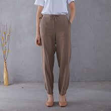 Load image into Gallery viewer, Elastic Waist Minimalist Linen Pants C1902