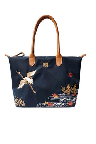 Single-shoulder hand-embroidered artistic nylon bag for youth women 001-35