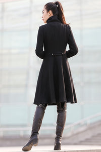 black warm coat