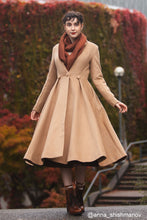 Load image into Gallery viewer, vintage inspired wool princess coat C1744