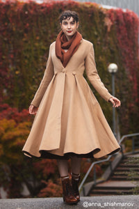 vintage inspired wool princess coat C1744