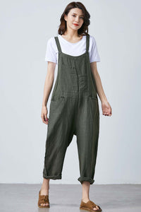 Casual Baggy Overalls Jumpsuit with Pockets C1688#