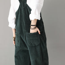 Load image into Gallery viewer, Vintage inspired Casual Comfortable Corduroy Jumpsuit C1808