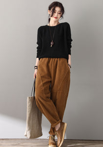 Retro Loose warm Corduroy Pants C1812