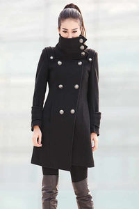 Double Breasted Military Coat C211
