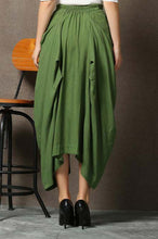 Load image into Gallery viewer, loose fitting Designer linen skirt C619