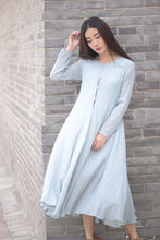 Load image into Gallery viewer, long linen dress
