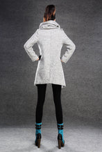 Load image into Gallery viewer, Asymmetrical Women's wool Jacket Coat C134