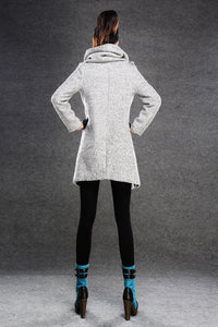 Asymmetrical Women's wool Jacket Coat C134