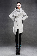 Load image into Gallery viewer, Asymmetrical Women's wool Jacket Coat C134#